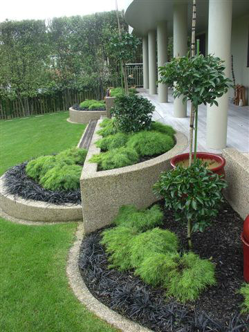 Landscaping gallery photos rukuhia homestead landscaping for New zealand garden designs ideas